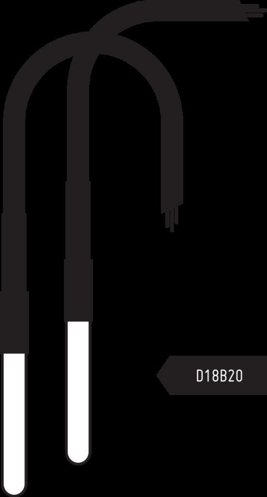 zwei D18B20 Sensoren