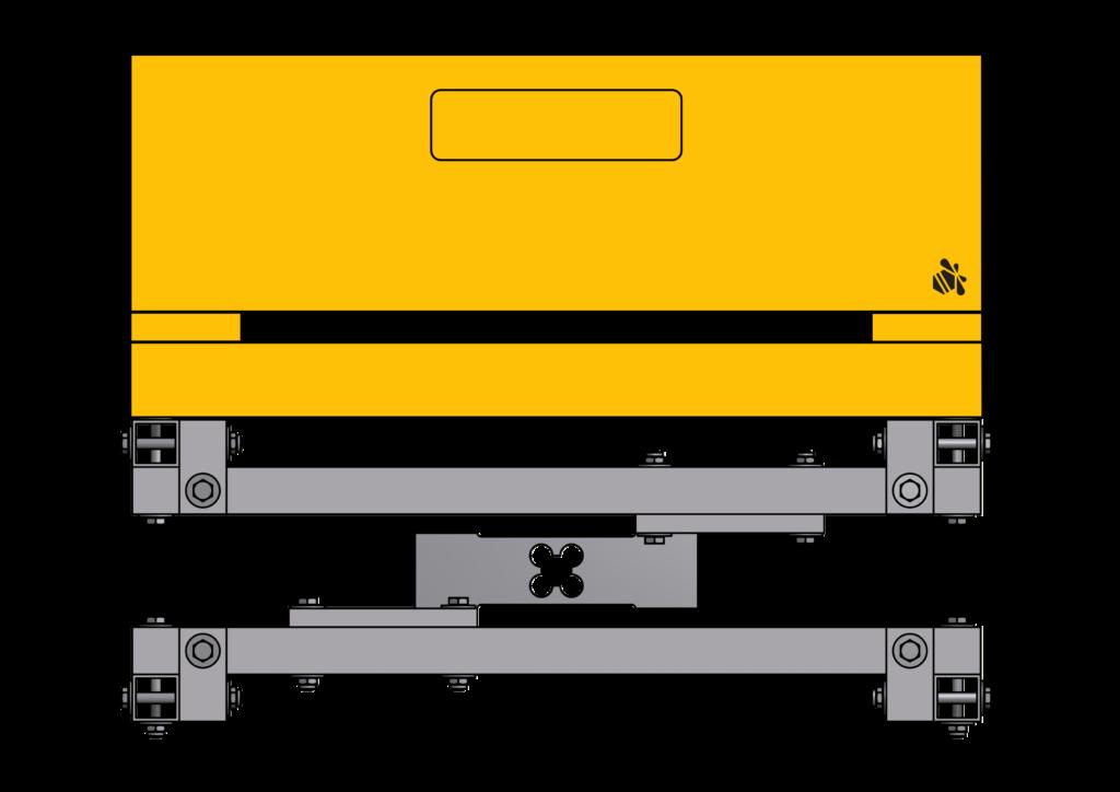 Stockwaage mit Plattformwaegezelle, Beute drauf