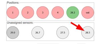 screenshop webinterface Anordnung der Temperatursensoren