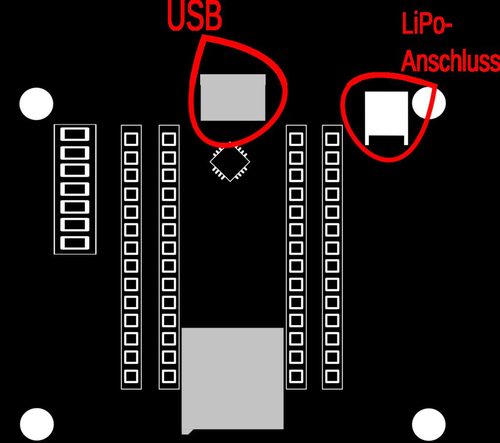 Verschiedene Möglichkeiten das BOB-Sensor-Kit  mit Strom zu versorgen